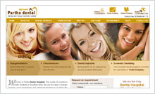 Dental Hospitals Website Designing Portfolio