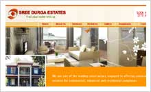 Real Estates & Constructions Website Designing Portfolio Hyderabad Guntur vijayawada visakhapatnam - Sree Durga Estates