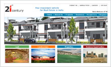 Real Estate & Constructions Website Designing Portfolio Hyderabad Guntur vijayawada visakhapatnam - 21st Century Group
