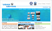 Power Electronic Products Website Designing Portfolio Hyderabad Guntur vijayawada visakhapatnam - Uday Udyog