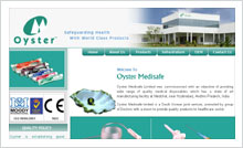 Medical Disposables Website Designing Portfolio Hyderabad Guntur vijayawada visakhapatnam - Oyster Medisafe