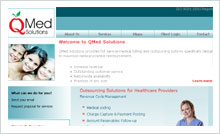 Medical Billing & Outsourcing Website Designing Portfolio - Qmed Solutions